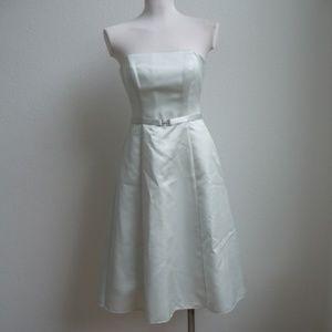 Strapless Michaelangelo Mint Green Satin Dress